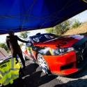 Tomáš Kurka s Jindřichem Müllerem své Mitsubishi Lancer Evo X R4 do cíle nedovezli. Po šesté RZ je zastavil požár. Barum Czech Rally Zlín 2013