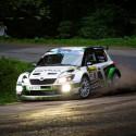 Vítězná posádka 43. ročníku Barum Czech Rally Zlín - Jan Kopecký a Pavel Dresler se Škodou Fabia S2000