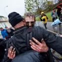 Yannick Peeters - radost z juniorského titulu, ME v cyklokrosu 2013 (her)