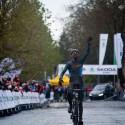 Radost Michaela Vanthorenhouta v cíli, ME v cyklokrosu 2013 (her)