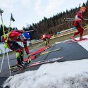 """""""Přezouvačka"""", věc v biatlonu normálně nevídaná, biatlonová exhibice 2014"""