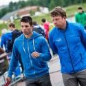 Jiří Prskavec a Jiří Prskavec konzultují trať, IFC canoe slalom World Cup 2014 – Prague