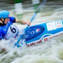 Jiří Prskavec ve vlnách trojského kanálu, IFC canoe slalom World Cup 2014 – Prague