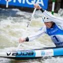 David Florence (GBR) ukazoval zuby, ve finále nakonec bral stříbrnou medaili, IFC canoe slalom World Cup 2014 – Prague