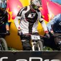Rider Ondřej Karkoška v okamžiku startu, JBC 4X Revelations 2014