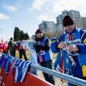 MS cyklokros Tábor 2015, v cíli je třeba přichystat prochladlým závodníkům suché oblečení (her)