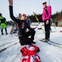 Rozdílení startovních čísel probíhalo třeba i hodem, biatlonová exhibice 2015