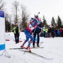Ondřej Moravec na startu, biatlonová exhibice 2015