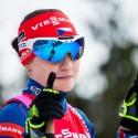 Veronika Vítková si z posledního závodu Světového poháru přivezla pochroumaný kotník, ale před domácím publikem se stejně představila. Biatlonová exhibice 2015