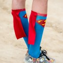 Svérázný ponožkový doplněk jednoho ze závodníků, Red Bull Feel the Wheel 2015
