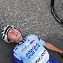 Pátý junior Jakub Johánek byl v cíli totálně vyčerpán.