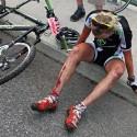 Takhle dopadla Pavlína Šulcová po pádu na trati.