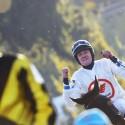 123. Velká pardubická steeplechase, Jan Faltejsek bezprostředně v cíli (syn)