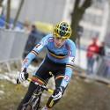 MS cyklokros Tábor 2015, junior Jarne Driesen (BEL) (syn)