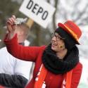 MS cyklokros Tábor 2015, belgické děvče na vdávání, proto ukazuje belgickou občanku (syn)