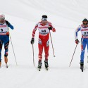 Skiatlon muži - Vincent Vittoz (FRA), Alex Harvey (CAN), Roland Clara (ITA)