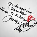 Vtip s věnováním pro sportmagazín Numberczech od kreslíře koní Jana Honzy Lušovského