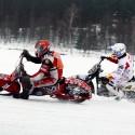 Rozhodující moment celého závodu. 16. jízda a Jan Klatovský jde v dramatické jízdě před Frankyho Zorna. (syn)